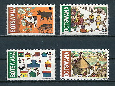 Botswana  295-8 MNH, Children's Drawings, 1982