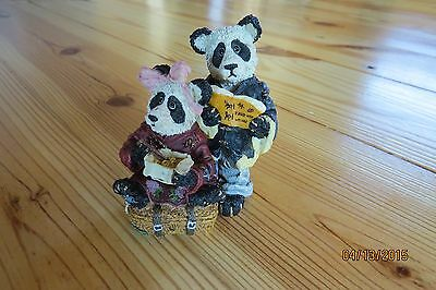 Boyds Bears Resin HSING HSING AND LING LING WO 2433 Noahs Ark Series 2 Pandas