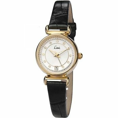 Ladies Limit PVD Gold plated Strap buckle White Dial Watch 6948.01