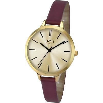 Ladies Limit Gold Plated Gold Dial Watch 6225.01