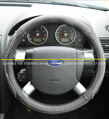 Universal Faux Leather Grey Steering Wheel Cover Jd003-Gry Mtb1