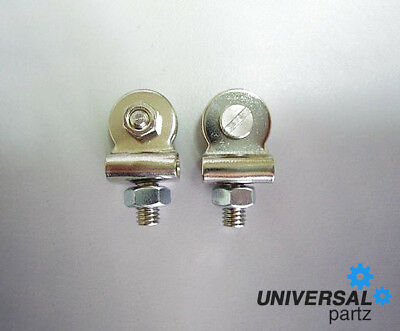 Pair Of Universal Motorbike Oem Style Front Number Plate Studs Custom Cafe Racer