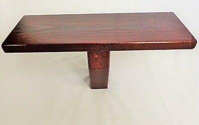 Meditation 'T' Stool / Bench - Solid Pine - Colour Walnut by Marcher Crafts