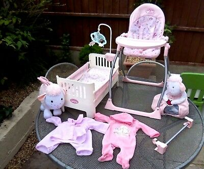 Zapf Creation Baby Annabell Bundle - Bed, Highchair / Swing Combi & More