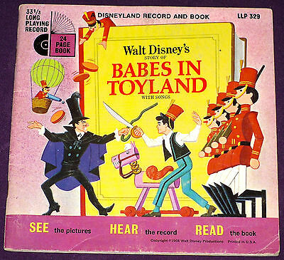 Babes in Toyland - Disney Record & Book - LLP 329 w/o Record! See Hear And Read!