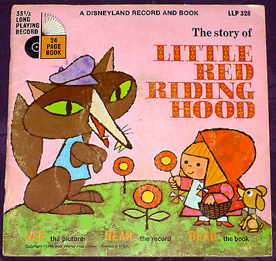 Little Red Riding Hood - Disney Record & Book - W/Record! See Hear And Read!!!
