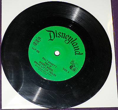 Mickey Mouse Brave Little Tailor - Disney See Hear And Read!!! Record ONLY!!!