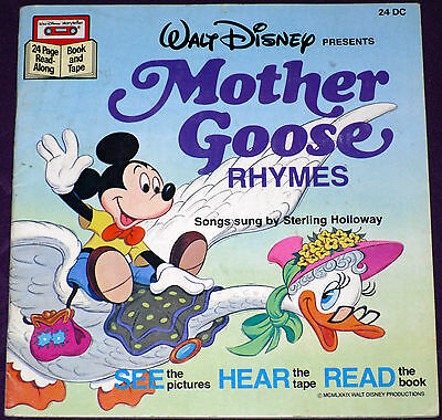 Mother Goose Rhymes - Disney Cassette & Book - w/o Cassette - See Hear And Read!