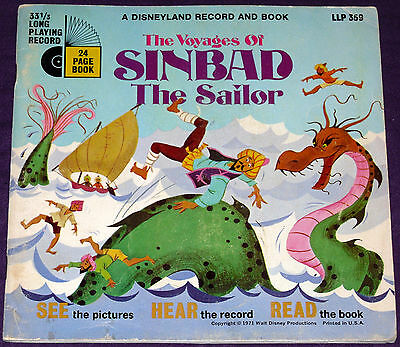The Voyages of Sinbad the Sailor, Disney See Hear And Read!!! w/o Record!!!