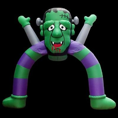 12 ft Inflatable Halloween Archway Monster Frankenstein with Disco Lights