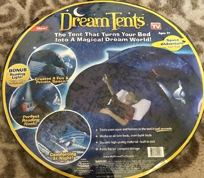 Dream Tents as seen on TV Space Adventure Magical Dream World twin or bunk size