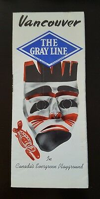 Vintage Vancouver The Gray Line In Canada's Evergreen Playground, Rcmp, Brochure