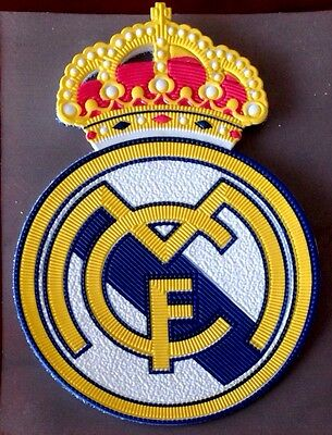 REAL MADRID Football Team Souvenir Crest IRON ON Silicone Soccer Badge Patch