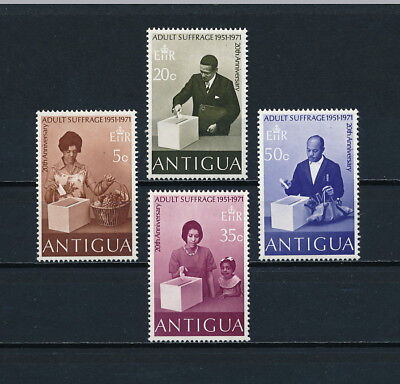 Antigua  267-70 MNH, Adult Suffrage, 1971