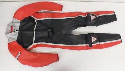Dainese Italy High-End 2-Piece Red & Black Leather Motorcycle Racing Suit EU 50