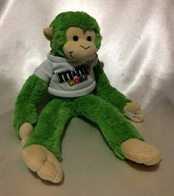Mm's World Green Talking Hanging Plush Monkey 05/13 L4973 Collectable Mm's Toy
