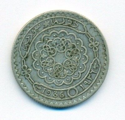 Syrian Silver Coin  (50 piasters )  1936 very Rare