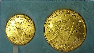 1940 - 1965 RAF BATTLE OF BRITAIN GOLD MEDALS 3.982oz - NOT POUND SOVEREIGN £2