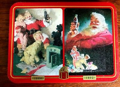 1996 Coca Cola Natstalgia Playing Cards in a Christmas Tin