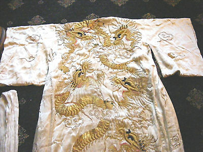 Antique Japanese Kimono Dragons  Silk Heavy Fully Lined