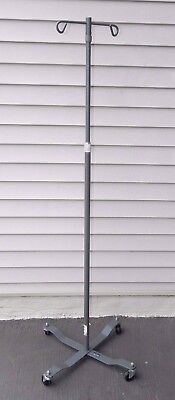 "Medical Hospital Select Care 2-Hook IV Stand Pole Height Adj. 47""- 84"""