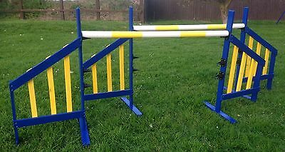 Handmade Dog Agility Jump in Blue and Yellow