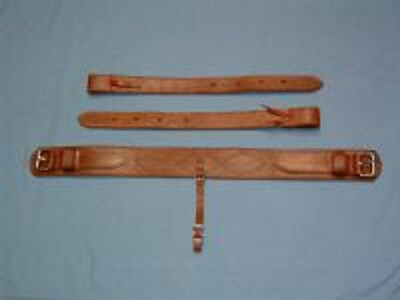 "3"" COMPLETE Back/Rear Girth Set - OILED - WORKING QUALITY - USA AMISH MADE!"