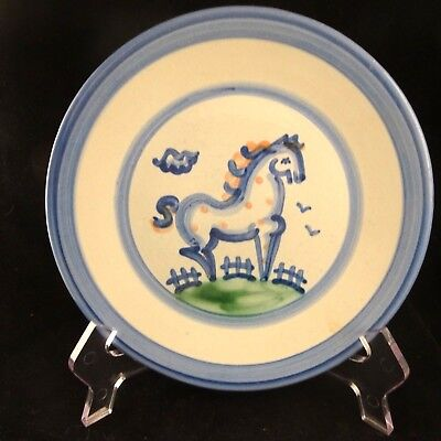 "M A Hadley Pottery Country HORSE Salad Plate 7.5"" USA"
