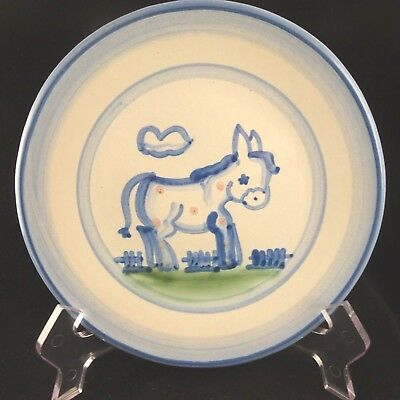 "M A Hadley Pottery Country DONKEY Salad Plate 7.5"" USA"