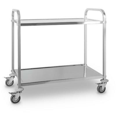 Smartthe Great Gatsby Cater Serving Trolley Cart 2 Shelves Stainless Steel