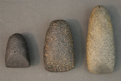 3 x polished stone axe heads - Sahara, Neolithic