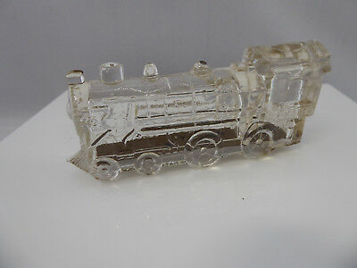 Vintage Glass Xmas Train Candy Container
