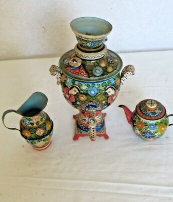 Quirky Indian Asian Hand Painted Ornaments - Miniature Urn Jug Pot