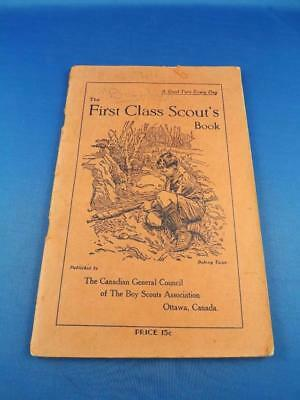 First Class Scouts Book Canadian General Council 1943 First Aid Knots Compass