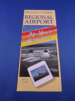 Waterloo Guelph Regional Airport Advertising Brochure At Your Service Planes