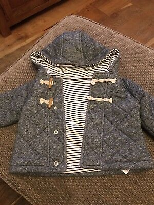 Next Baby Grey Toggle Jacket. Size 9-12 Months