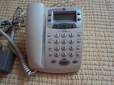 2.4 GHz GE GENERAL ELECTRIC CORDED PHONE DIG ANSWERING MODEL 27881GE2-A