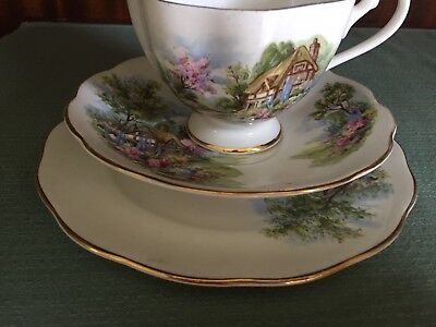 Queen Ann bone china Cup saucer and plate
