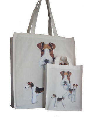 Cairn Terrier Breed of Dog Adult and Child Shopping Matching Cotton Bag Tote or Dog Treats  Packed Lunch  Crafts etc