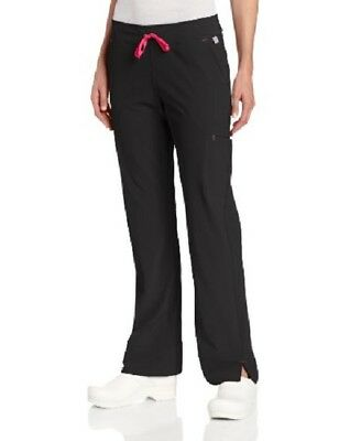Smitten Drawstring Scrub Pants #S201002 Rock Goddess~ Black **NEW** ~Free Ship~