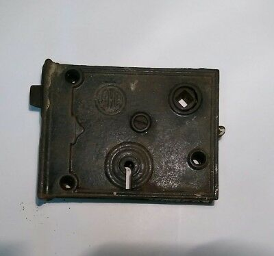 VINTAGE Antique MORTISE DOOR LOCK Reading Hardware Co WORKS NO KEY