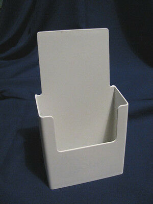Painted White 8-1/2 x 11 Tri-Fold Literature Display Stand