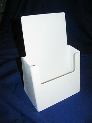 """Painted White 5-1/4"""" Wide x 8-1/2"""" High Literature Display Stand"""