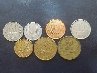 7 Different World Coins From Brazil 1930-2013