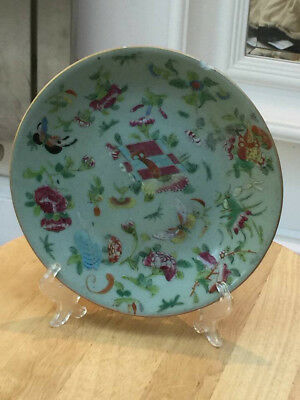 Antique Chinese celadon plate with Daoguang mark