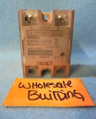 Omron Solid State Relay, G3Na-220B, 5-24 Vdc Control, 24-240 Vac Load, Spst Cont