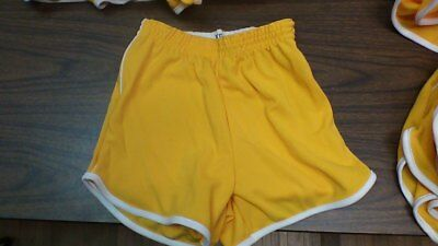 Vintage 60's 100% polyester gym shorts made in the usa xs-xl yellow/white