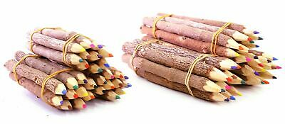 Natural Wooden Bush Pencils Mixed Colour (pack of 10)