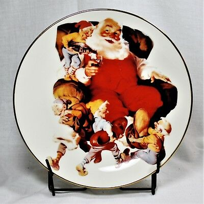 Coca Cola Collector Plate Santa Christmas 1991 Mint In Box