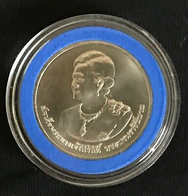 Thailand 2012 Queen Sirikit 's 80th Birthday 20 Baht Coin UNC In Capsule